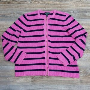 Lauren Ralph Lauren Full Zip Knit Sweater Jacket!